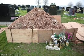 family visit dead s grave on s day to find pile of