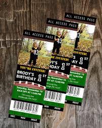 football ticket birthday invitation printable boys birthday