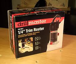 Fine Woodworking Trim Router Review by Harbor Freight Drill Master Bench Top Woodworking 1 4