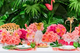 themed tablescapes luxury flamingo themed tablescape details details bloom box