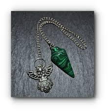 handmade angel necklace images Malachite handmade angel pendulum spirituality mystic wish jpg