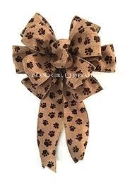 paw print ribbon paw print ribbon wreath bow pet wreath bow paw print