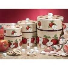 apple kitchen canisters apple collection canister set apple country for the home