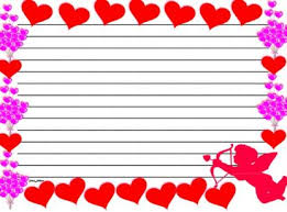 themed paper writing lesson plans valentines day themed lined paper and