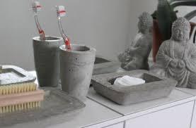 badezimmer accessoires bad deko aus beton badezimmer accessoires 3 teile 12 cm ablage in