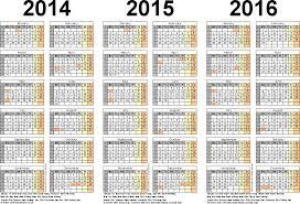 three year calendars for 2014 2015 u0026 2016 uk for word