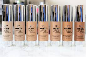 it cosmetics bye bye lines foundation review u0026 swatches nik