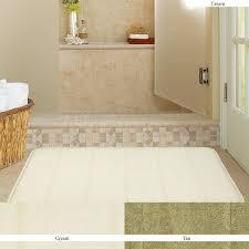 amazon com mohawk home memory foam cream bath rug 17 inch by 24
