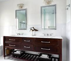 bathroom mirror cabinet ideas with traditional white subway tile