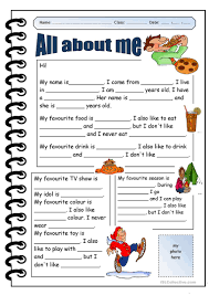 all about me worksheet free esl printable worksheets made by