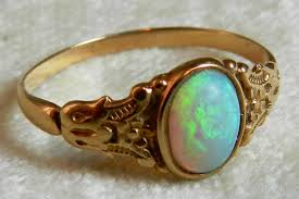 victorian opal ring opal engagement ring antique australian blue