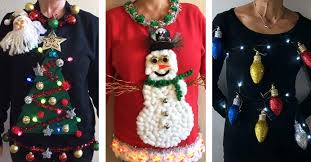 it s sweater time 3 tree mendously tacky ideas the