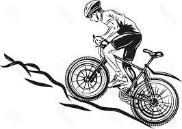 cdr bike best mtb biker stock vector mountain bike biking file free