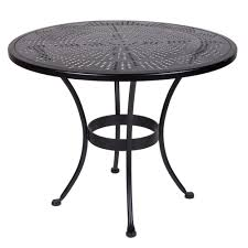 Ow Lee San Cristobal by Ow Lee Bistro 36 Inch Round Stamped Metal Dining Table 36 Su