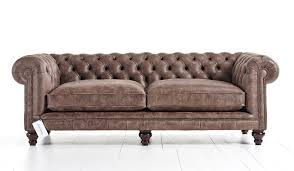 Distressed Leather Chesterfield Sofa Loveseat Small Chesterfield Armchair Distressed Leather Armchair