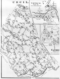 Pennsylvania Township Map by Washington County Genealogy Pagenweb Project Map Cecil Twp