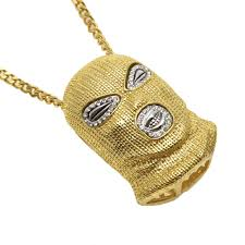 necklace silver gold images Silver gold popular men hip hop cuban chain black goon ski mask jpg