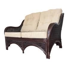 rattan lounge sofa rattan lounge loveseat sofa karmen color brown with