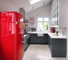 küche retro retro kühlschrank rot industrielle küche bodenfliesen küche