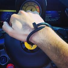 men rubber bracelet images Silica gel nail bracelet for men women textured silicone bangles jpg