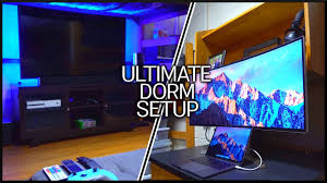 the ultimate dorm setup tour youtube