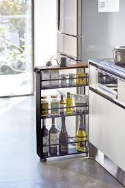 narrow storage cabinet for kitchen rolling slim storage cart with handle steel