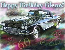 corvette birthday cards