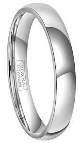 titanium wedding rings for men crownal 4mm 6mm 8mm titanium wedding bands rings men women