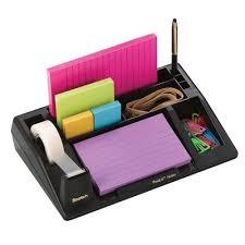 Post It Desk Organizer 3m Mmm C61 Black Post It Note Desk Organizer Organizing