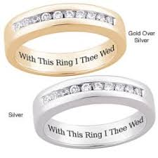 with this ring i thee wed cubic zirconia personalized rings shop the best deals for nov