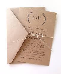 rustic laurel wedding invitations