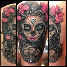 sugar skull tattoos meaning and design