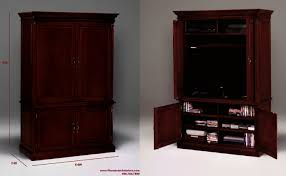 Tv Armoire Tv Armoire With Pocket Doors Entertainment Cabinets