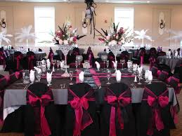 pink and black wedding reception decorations the wedding