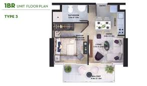 3 floor plan damac golf vita apartments at damac hills floor layout plan