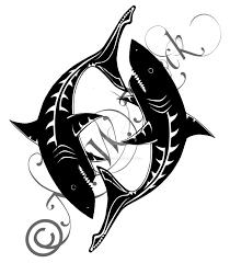 pisces tribal shark tattoo by nessie walkure louve on deviantart