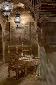 morroco style romantic dining room decoration with moroccan style with brick