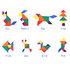 tangram puzzle jigsaw puzzle wooden tangram educational gift for kids