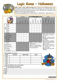 Halloween Comprehension Worksheets 62 Free Esl Halloween Games Worksheets