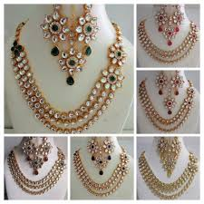 gold set for marriage bridal kundan set ebay