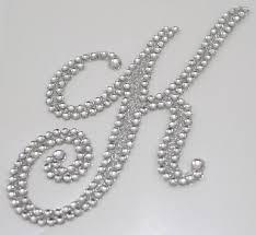 rhinestone letter stickers diamond monogram sticker letter k