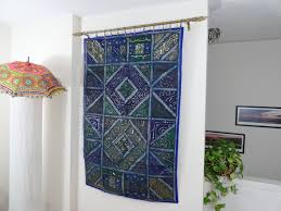 ethnic wall tapestry home decor idea