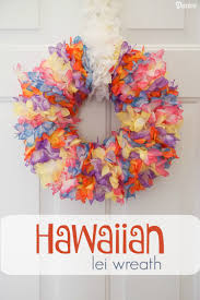 Diy Wreaths Diy Lei Wreath With Hawaiian Flower Lei Darice
