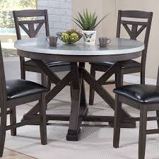 metal top round dining table zinc top dining table is cool round zinc pedestal table is cool