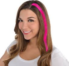 headband hair extensions pink hair extensions 10ct party city