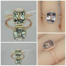 chagne engagement ring 4 14 carat certified unheated color change sapphire gold