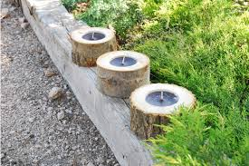 Outdoor Christmas Decorations Candles by Outdoor Christmas Decoration Ideas Garden Wood Logs Candles
