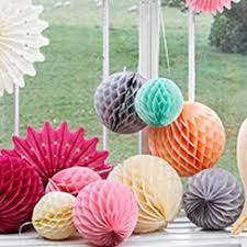 paper decorations paper decorations hanging fans pom poms lanterns garlands