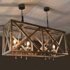 Rectangular Iron Chandelier Iron Chandelier Wooden Editonline Us