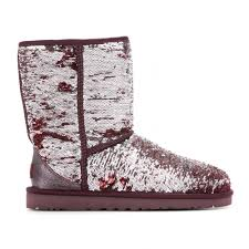 ugg glitter boots sale lyst ugg sparkles sequined boots in metallic